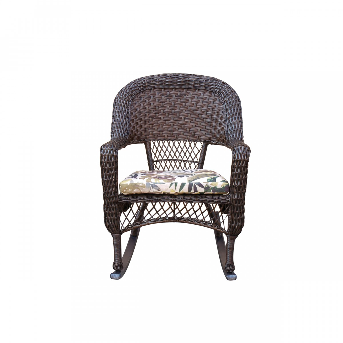 Excellent Resin Wicker Rocking Chair With 2 In Seat Cushion And Aluminum Glider Machost Co Dining Chair Design Ideas Machostcouk