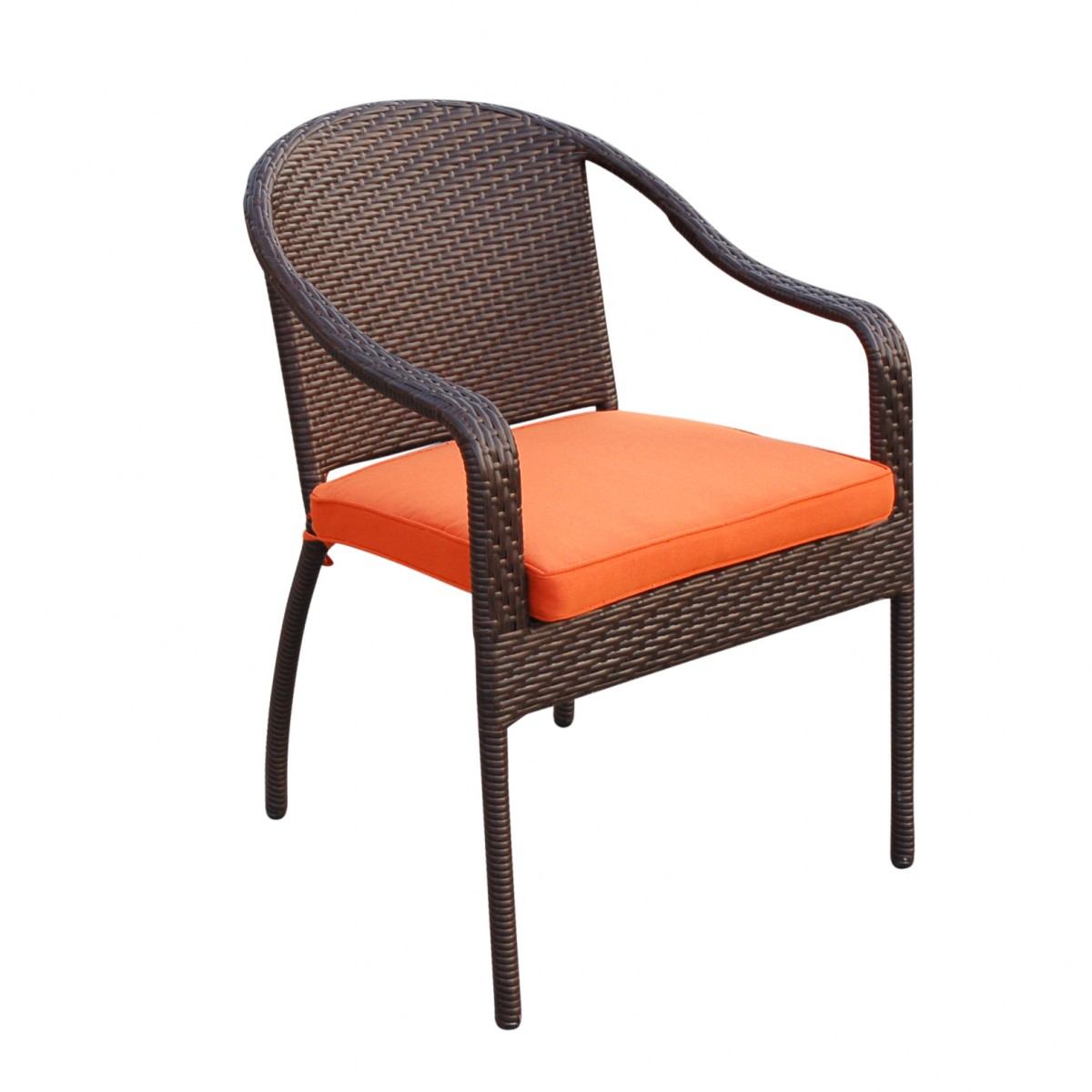 5pcs Cafe Curved Back Chairs and Folding Wicker Table ...
