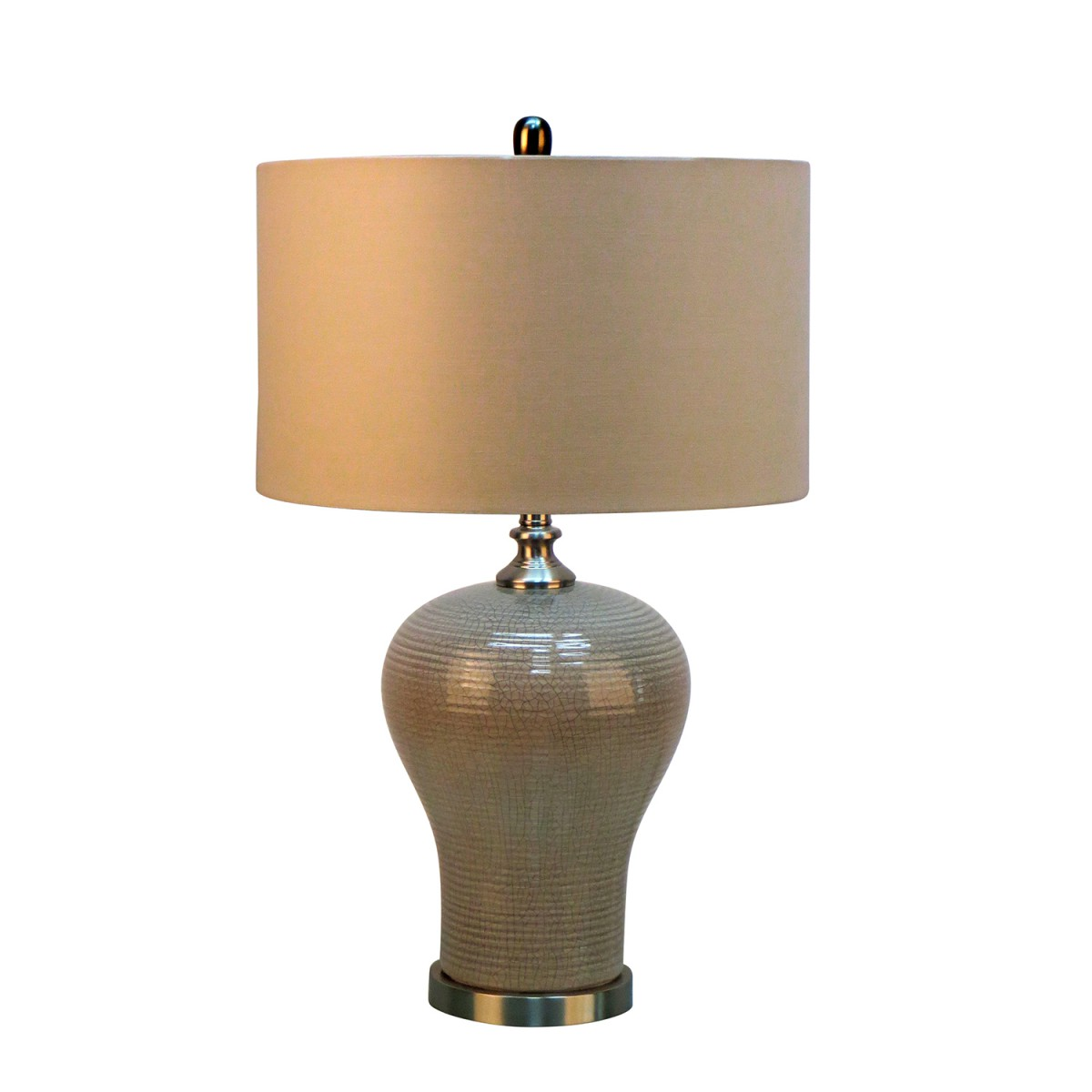 28 5 Quot H Ceramic Table Lamp With Metal Base