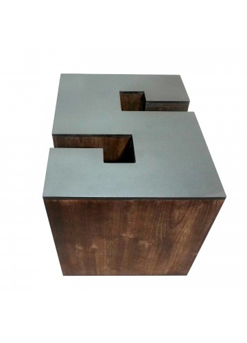 Letter-shaped Wooden Stool