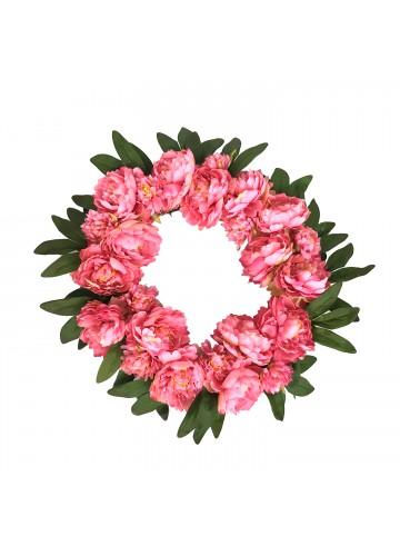 16 Inch Peony Wreath