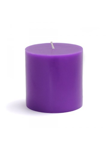 3 x 3 Inch Purple Pillar Candles (12pcs/Case) Bulk