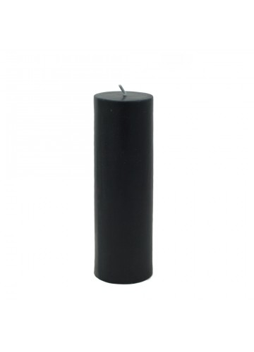 2 x 6 Inch Black Pillar Candle