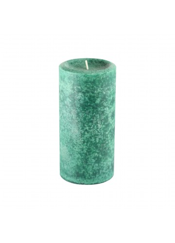 3 Inch x 6 Inch Fresh Frasier Fir Green Scented Pillar Candle
