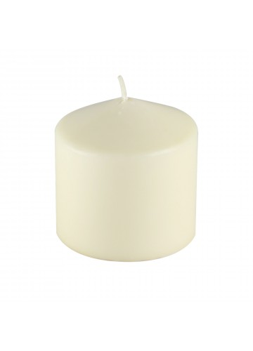 3Pack 3 Inchx 3 Inch Ivory Pressed and Over-Dipped Pillar Candles (12pcs/Case)