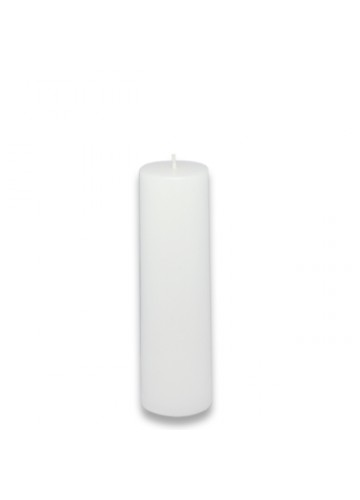 2 x 6 Inch White Pillar Candle