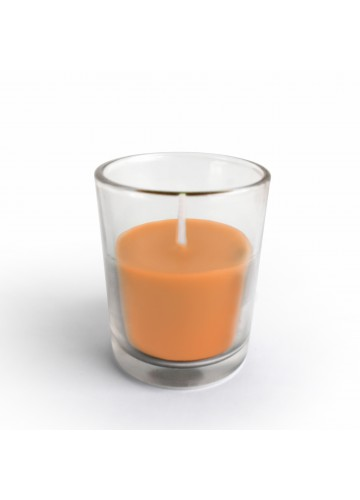 Orange Round Glass Votive Candles (96pcs/Case) Bulk