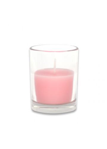 Light Rose Round Glass Votive Candles (96pcs/Case) Bulk