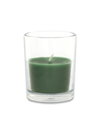 Hunter Green Round Glass Votive Candles (96pcs/Case) Bulk