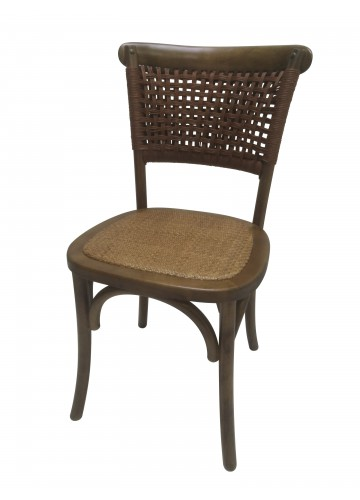34 Inch H Brown Wooden Chair - Set of 2