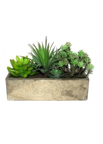 6 Inch Artifical Succulent Garden