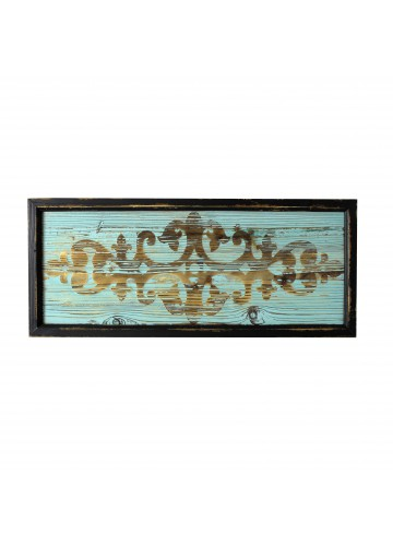 30 Inch Wood Deco- Blue