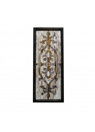 30 Inch Wood Deco- White