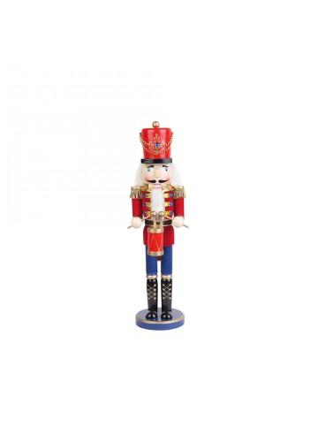 18 Inch Red  Nutcracker Drummer Soldier