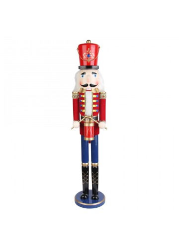 36 Inch Red  Nutcracker Drummer Soldier