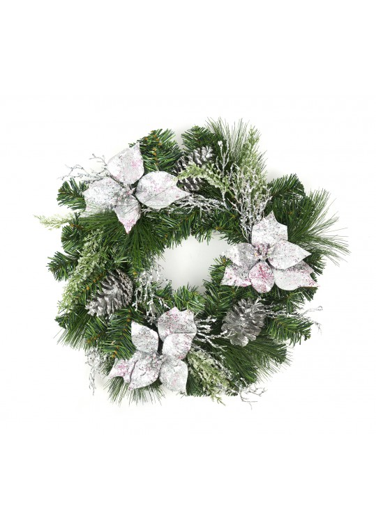 20 Inch Christmas Decorated Wreath