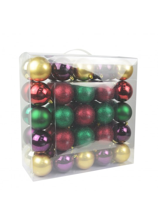 Combo 50Pc 3 Inch  Shiny Glitter Square-Festive Blooms Christmas Ornament