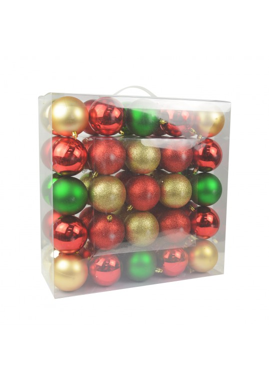 Combo 50Pk 3 Inch  Shiny Glitter Square- Red/Green/Gold Christmas Ornament