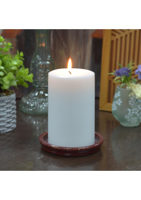 3 x 6 Inch White Pillar Candle - Set of 6