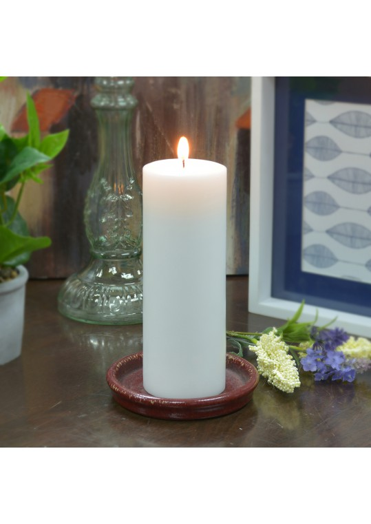3 x 8  Inch White Pillar Candles - Set of 4