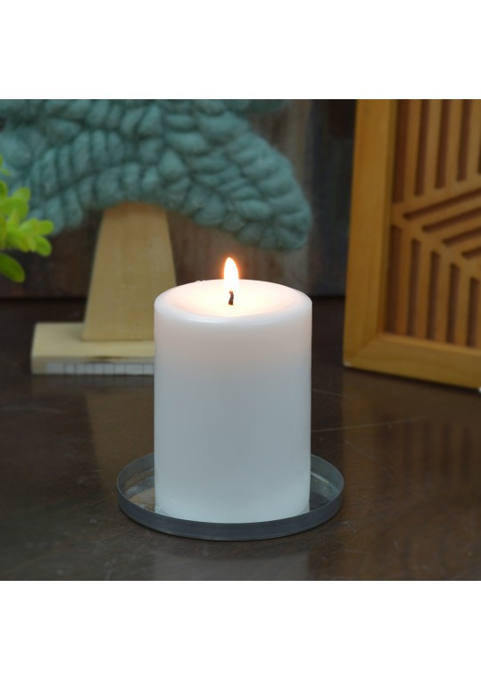 4 x 6 Inch White Pillar Candles - Set of 4