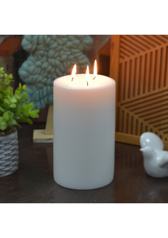 5 x 8 Inch White Pillar Candle - Set of 4