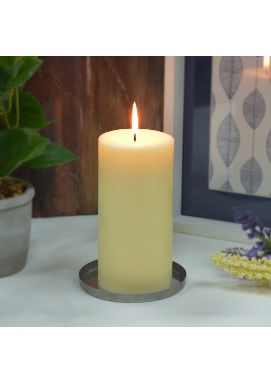 3 x 6 Inch Ivory Pillar Candles - Set of 6