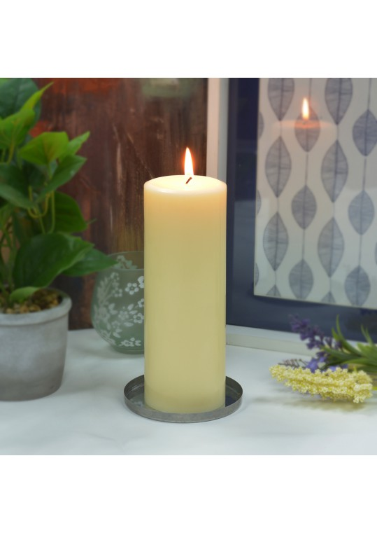 3 x 8 Inch Ivory Pillar Candles - Set of 16