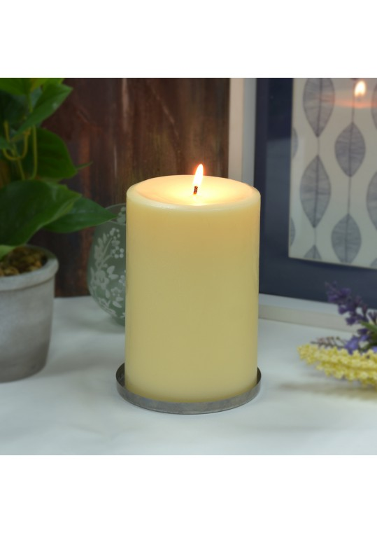 4 x 6 Inch Ivory Pillar Candles - Set of 12