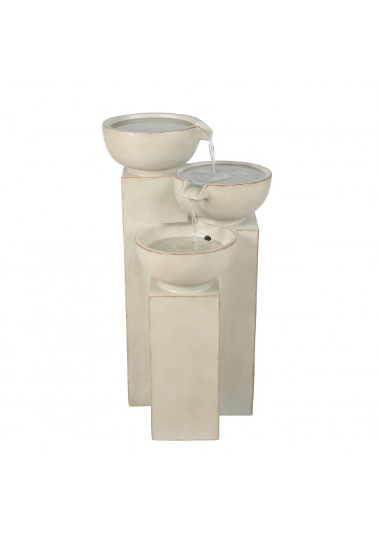 3 Tier Bowls Water Fountain with Led Light