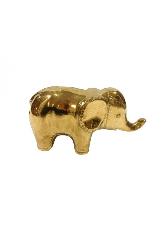 CERAMIC ELEPHANT GOLD COLOR