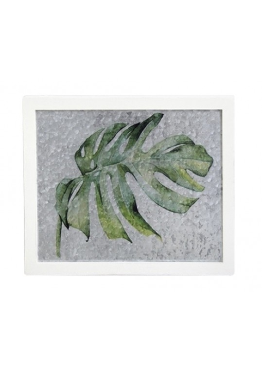 METAL WALL PLAQUE LEAVES DESIGN