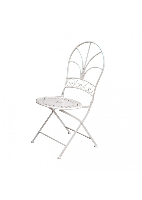 White Metal Stamp Chair
