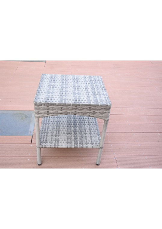 Grey Resin Clark Wicker Clark Side Table(KD)