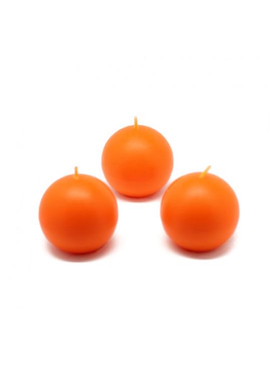 "2"" Orange Ball Candles (12pc/Box)"