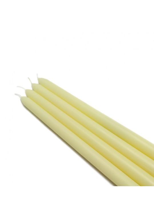 12 Inch Ivory Taper Candles (144pcs/Case) Bulk