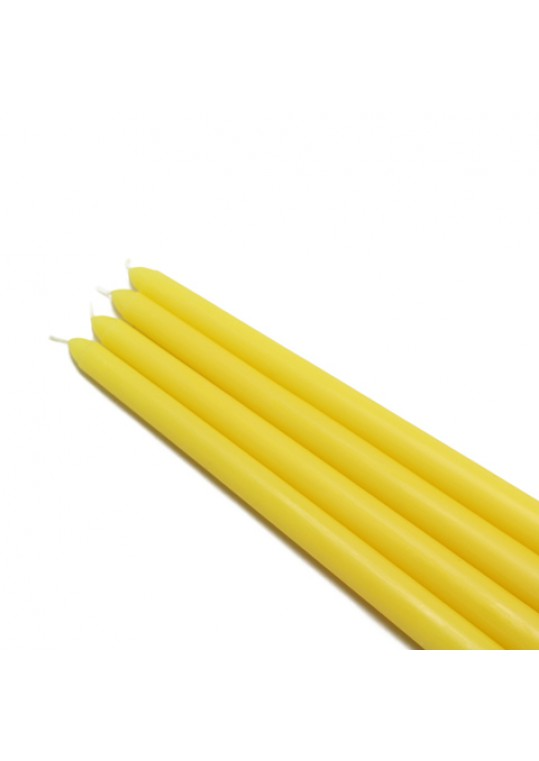 "12"" Yellow Taper Candles (144pcs/Case) Bulk"