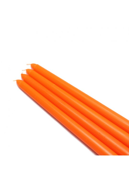 "12"" Orange Taper Candles (144pcs/Case) Bulk"