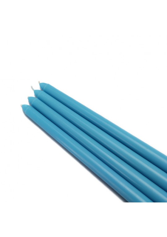 "12"" Turquoise Taper Candles (144pcs/Case) Bulk"