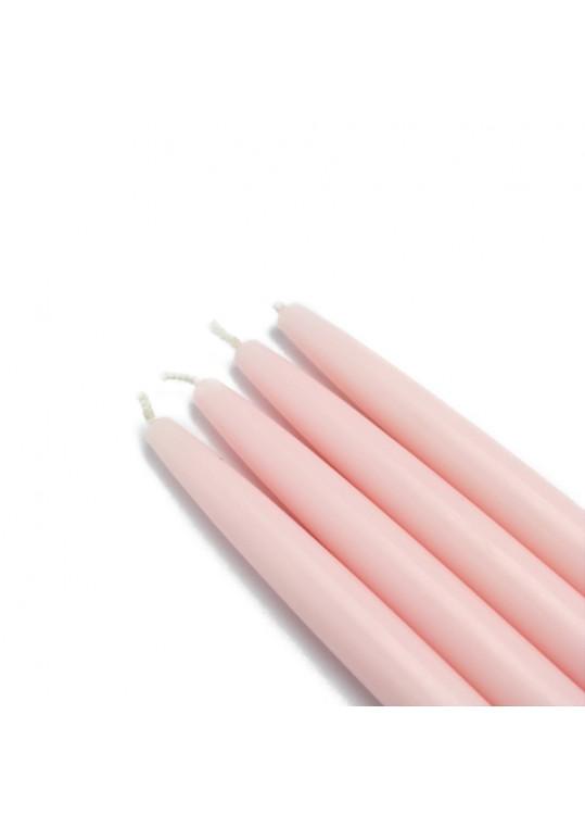 6 Inch Light Rose Taper Candles (144pcs/Case) Bulk