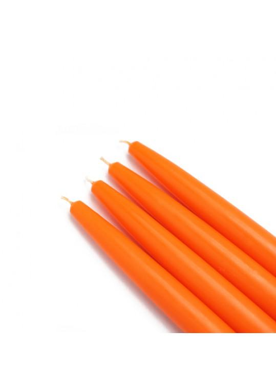 "6"" Orange Taper Candles (144pcs/Case) Bulk"