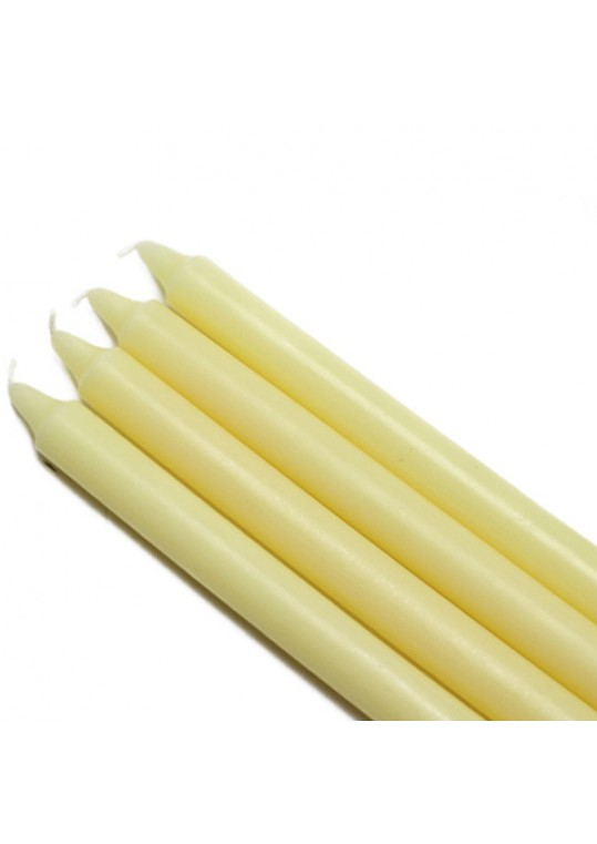 10 Inch Ivory Straight Taper Candles (144pcs/Case) Bulk