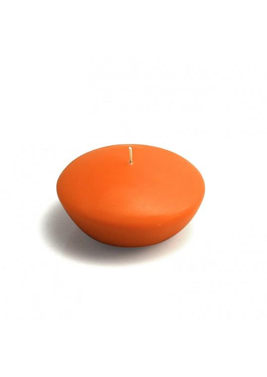 3 Inch Orange Floating Candles (72pcs/Case) Bulk