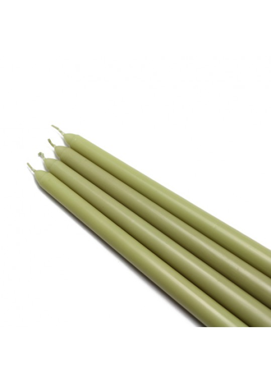 12 Inch Sage Green Taper Candles (144pcs/Case) Bulk