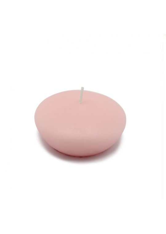 "3"" Light Rose Floating Candles (144pcs/Case) Bulk"
