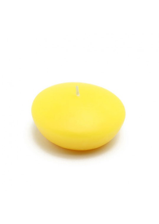 3 Inch Yellow Floating Candles (72pcs/Case) Bulk