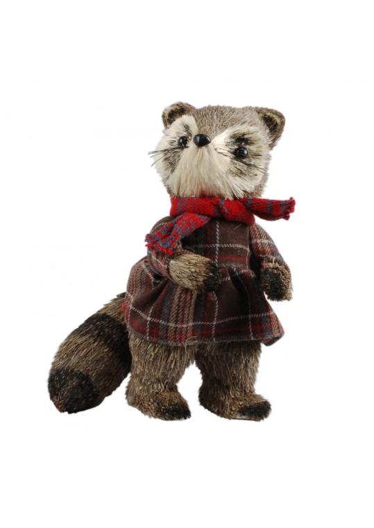 11.5 Inch H Christmas Decorative Raccoon