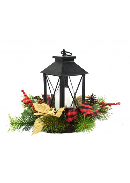 Candle Holder With Wreath