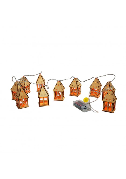 Christmas House String Lights (Set of 10)