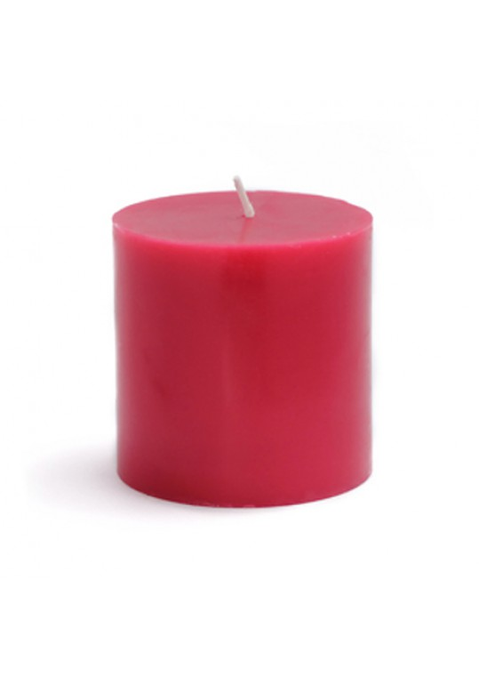 3 x 3 Inch Red Pillar Candles (12pcs/Case) Bulk